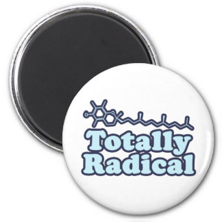 Totally Radical for Science Teachers and Nerds 6 Cm Round Magnet