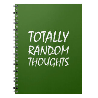 Totally Random Thoughts Notebook (Green)