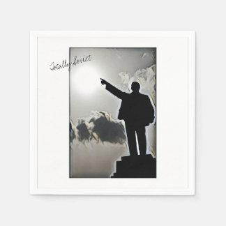 Totally Soviet Lenin Stylized Image Paper Napkin