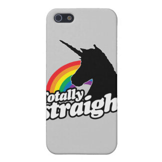 TOTALLY STRAIGHT UNICORN -.png iPhone 5/5S Covers