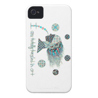 """""""Totally Tangled in Art Graphic iPhone 4 Case-Mate Case"""