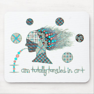 """""""Totally Tangled in Art Graphic Mouse Pad"""