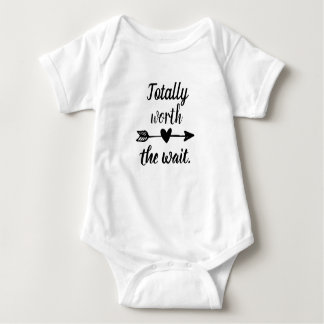 Totally worth the wait. baby bodysuit