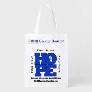 TOTE 1 side NAMI Greater Houston HOPE Bag Reusable Grocery Bags