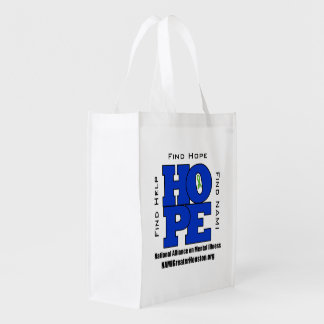 TOTE 2 sided NAMI Greater Houston HOPE Bag Grocery Bags