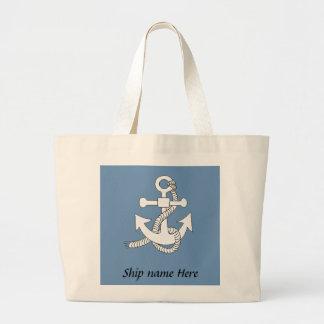 Tote Bag - Anchor with Ship Name
