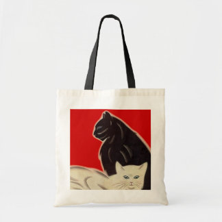 Tote Bag Art Deco Style Catz Cats eye-CATching