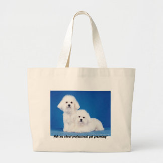 Tote Bag: Ask Me About Professional Pet Grooming