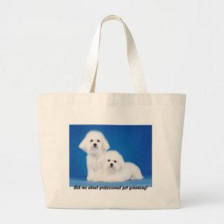 Tote Bag: Ask Me About Professional Pet Grooming Jumbo Tote Bag