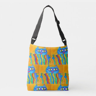 tote bag cat holding company to rainbow blanket