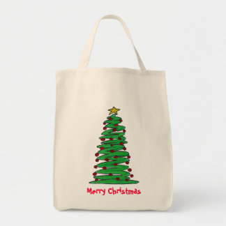 Tote Bag- Christmas Tree Grocery Tote Bag