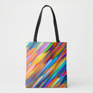 Tote Bag Colorful digital art splashing G391