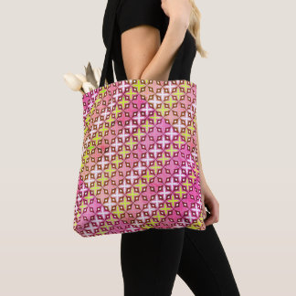 Tote bag cross pattern light colors