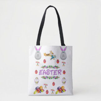 tote bag easter bunny