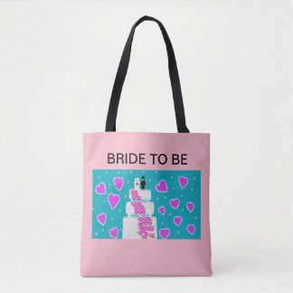 "tote bag  for the ""bride to be"""