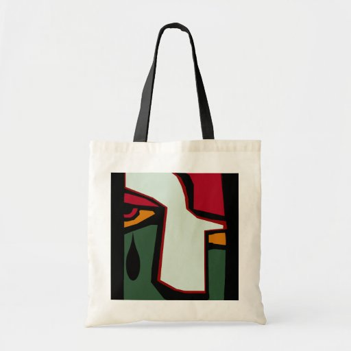 Tote Bag Gifts cubist cubism single teardrop