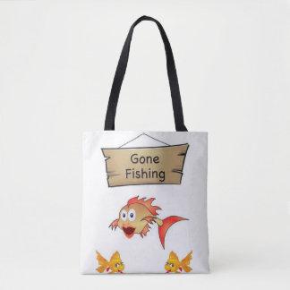 tote bag gone fishing