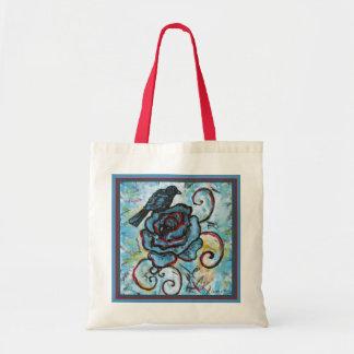 Tote Bag hand-drawn Crow