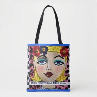 Tote bag- inner peace through impulse buying.