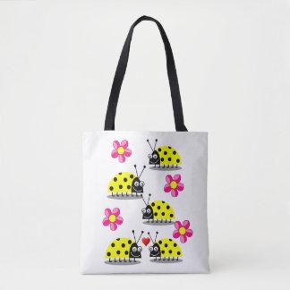 tote bag ladybugs