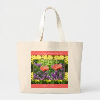Tote Bag, Large - Paper Poppies Jumbo Tote Bag