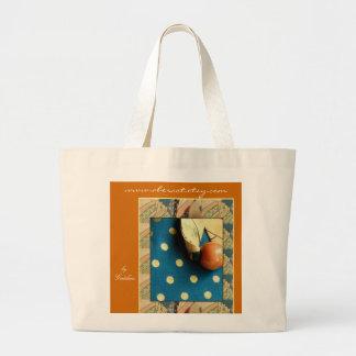 Tote Bag, Large - Turquoise Kimono Jumbo Tote Bag