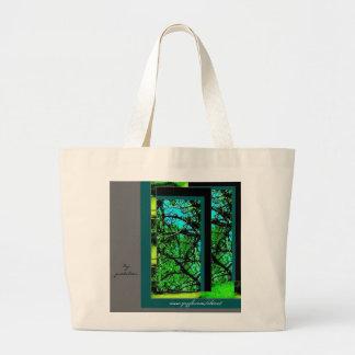 Tote Bag, Large - Walk in Green Jumbo Tote Bag