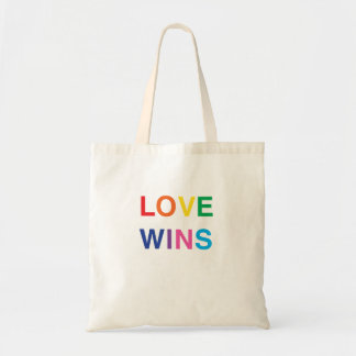 Tote Bag, Love Wins, In Bold Letters