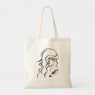 Tote bag: Mother and newborn baby