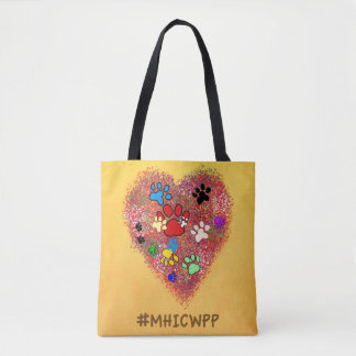 Tote Bag- My Heart is Covered with Paw Paw Prints Tote Bag