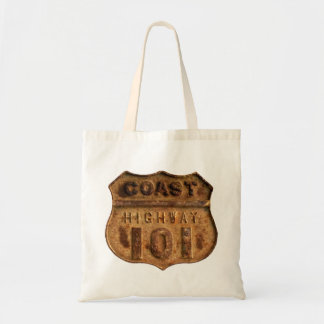 Tote bag of Rusty Coast Highway 101 metal element