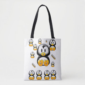 tote bag penguins