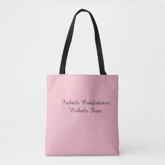 Tote Bag quote Confidence