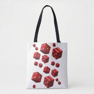 tote bag red dice