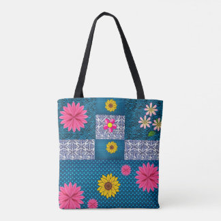 tote bag sunflowers