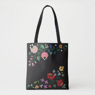 Tote Bag- Traditional Hungarian flower