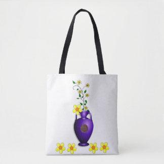 Tote bag vase floral