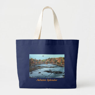 Tote Bag With A Beautiful Autumn Marsh Scene