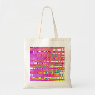 tote bag with abstract art in amazing colors