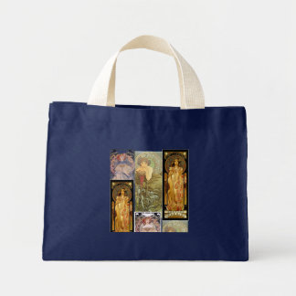 Tote Bag with Alphonse Mucha Design