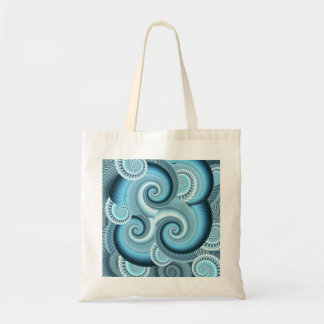 Tote bag with Fractal Spiral Design