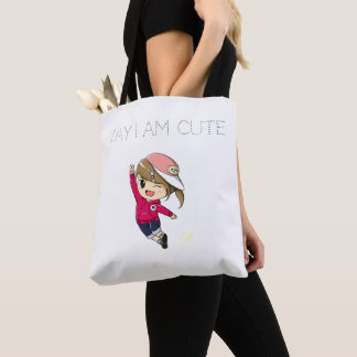 Tote Bag with HaHeeMi Design 'Yay I am cute'