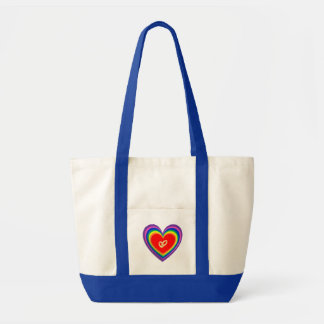 Tote Bag With Hearts and 2 Wedding Rings