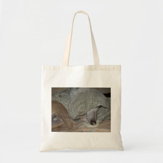 "Tote bag with hidden whippet ""Jimmy"" design"