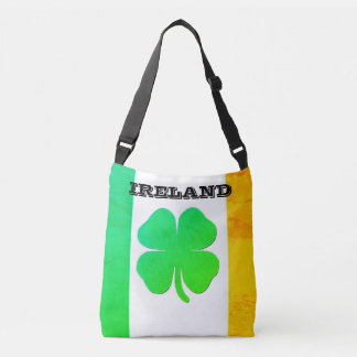 Tote Bag with Irish Flag and Shamrock