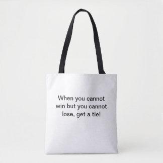 Tote bag with joke
