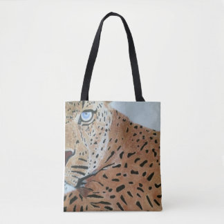 Tote bag with Leopard image
