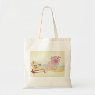 Tote bag with little Pig