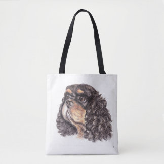Tote Bag with Max the Cavalier King Charles