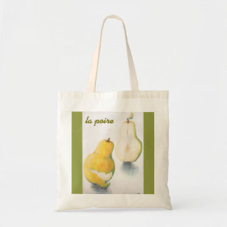 Tote bag with pear design